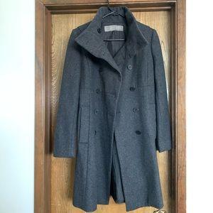 *ZARA* Charcoal Gray Wool Coat